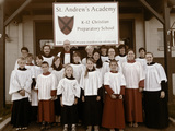 Choral Summer Camp choristers with faculty