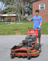 Boys ages 16 and older may choose to join the lawn mowing crew for their after school job.