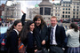 St. Andrew's Academy Photo - Students and intern in Trafalgar Square